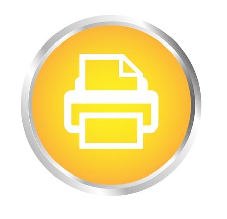 Button Printer Stock Vector - 17700190