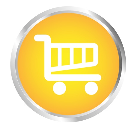 Button Cart Stock Vector - 17700201