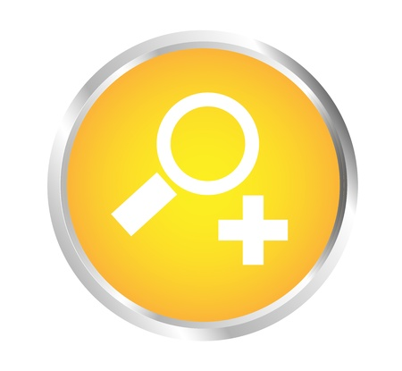 Button To zoom in Stock Vector - 17700186