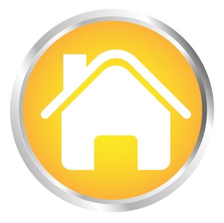 Button House Stock Vector - 17700205