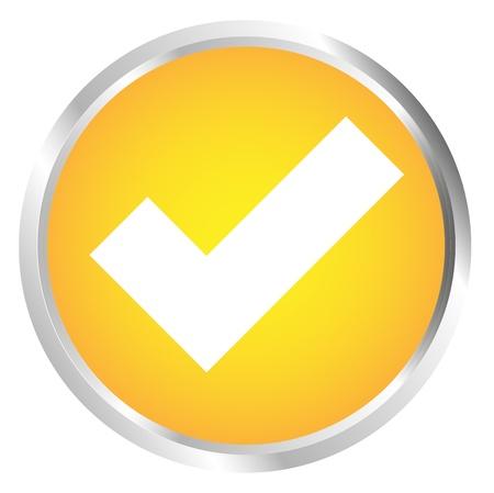 Button Tick icon Stock Vector - 17700185