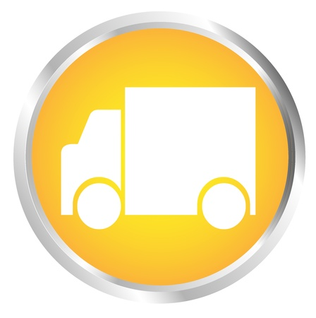 Button Truck Stock Vector - 17700200