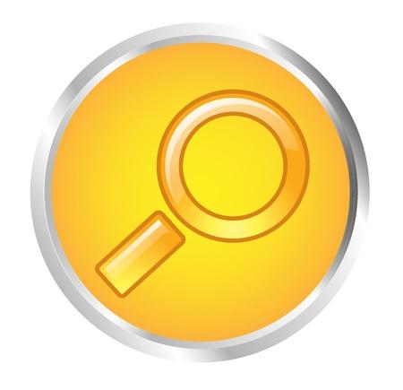 Button Loupe Stock Vector - 17700230