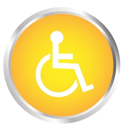 Button Wheelchair user Vector