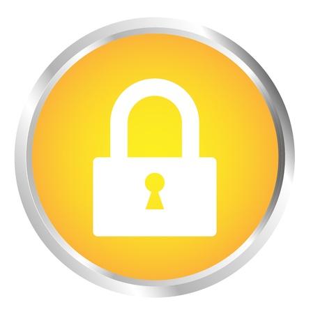 Button Lock Stock Vector - 17700183