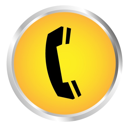 Button Telephone black Stock Vector - 17700180