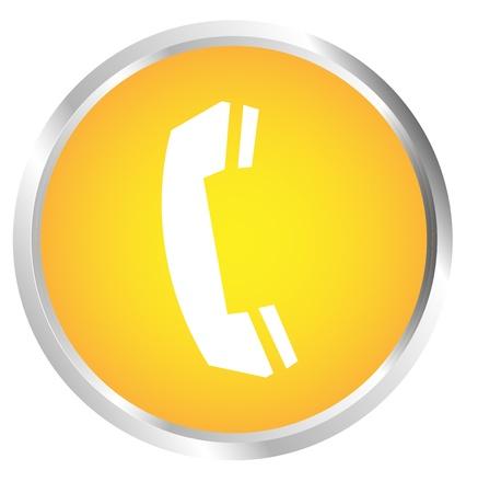 Button Telephone white Stock Vector - 17700191
