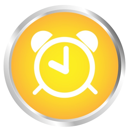 Button clock Vector