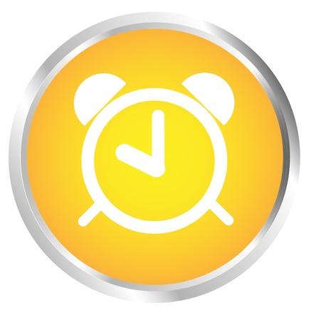 Button clock Stock Vector - 17700176