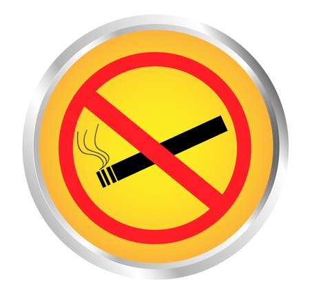 Button Prohibition sign Stock Vector - 17700177