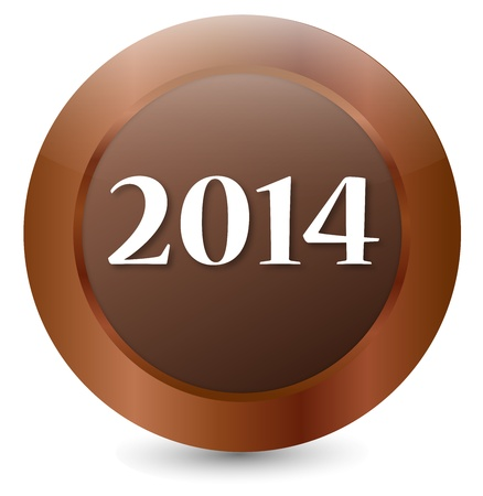 Button 2014 Stock Vector - 18146334