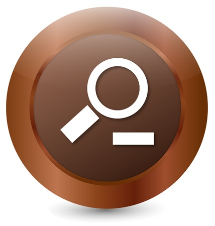 Button to zoom out Stock Vector - 18146331