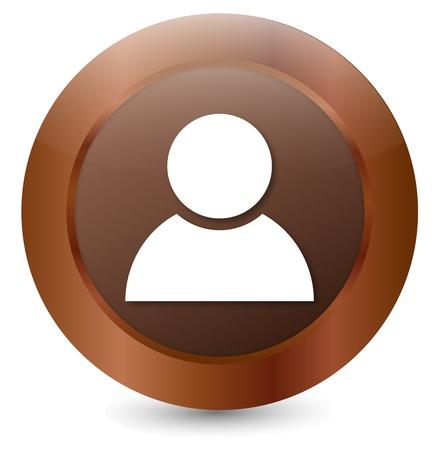 Button User Stock Vector - 18146329