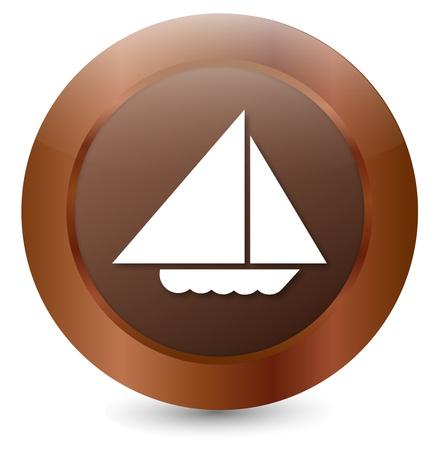 Button Boat Stock Vector - 18146326