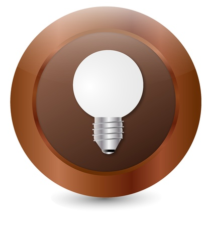Button Light bulb Stock Vector - 18146332