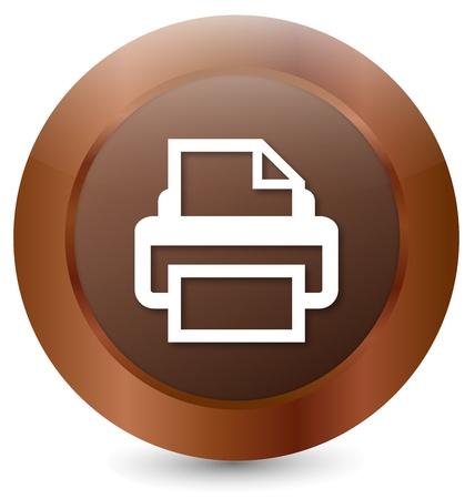 Button Printer Stock Vector - 18203090