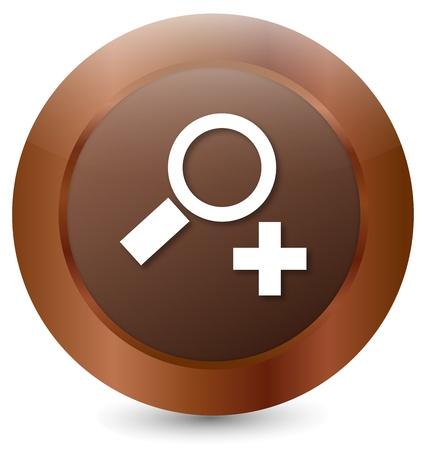 Button to zoom in Stock Vector - 18203066