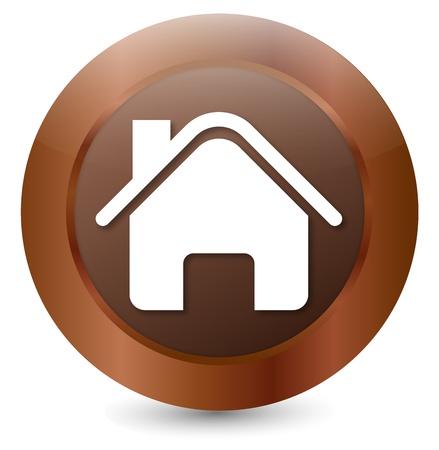 Button House Stock Vector - 18203140