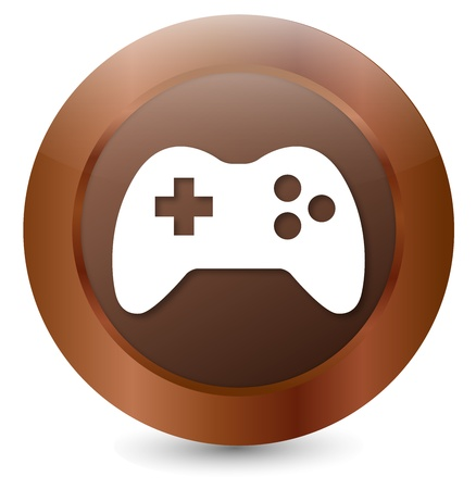 acolchado: Bot�n de Joystick Vectores