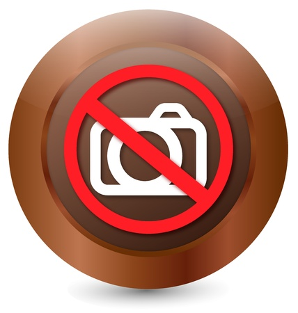 Button Prohibition sign Camera Stock Vector - 18203156