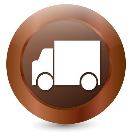 Button Truck Stock Vector - 18203114