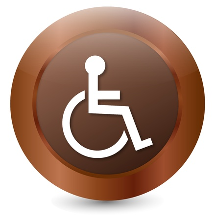 paralysis: Button Wheelchair user