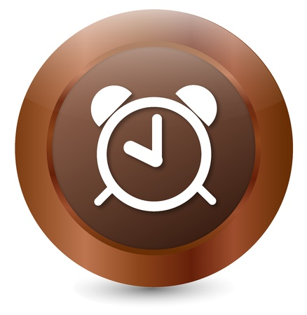 Button clock Stock Vector - 18203131