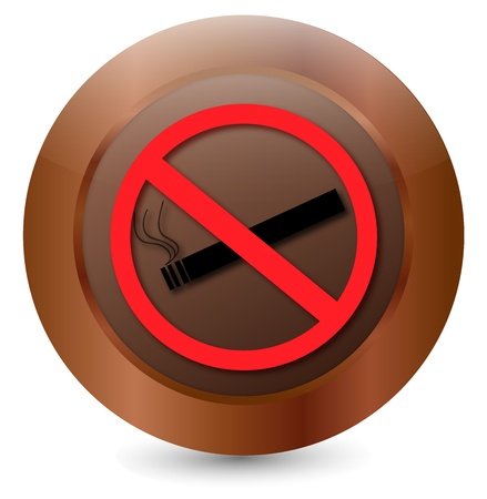 Button Prohibition sign Cigarette  Stock Vector - 18203155