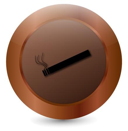 Button Cigarette black Stock Vector - 18203049
