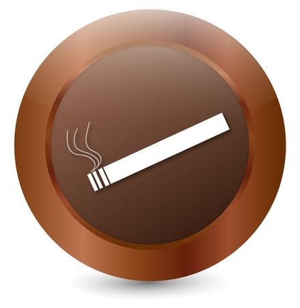 Button Cigarette white Stock Vector - 18203085