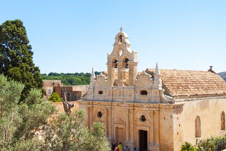 Facade of the Arkadi Monastery