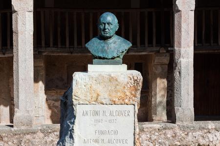 LLUC, MAJORCA, SPAIN - OCTOBER 18, 2017: Statue of Father Antoni Maria Alcover i Sureda at Santuari de Lluc