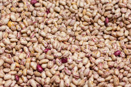 Cranberry beans background Stock Photo - 107711264
