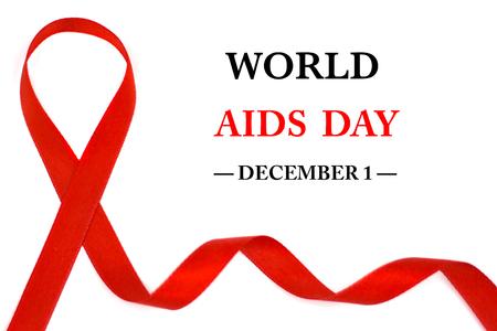 World AIDS Day Awareness ribbon. December 1 Stock Photo