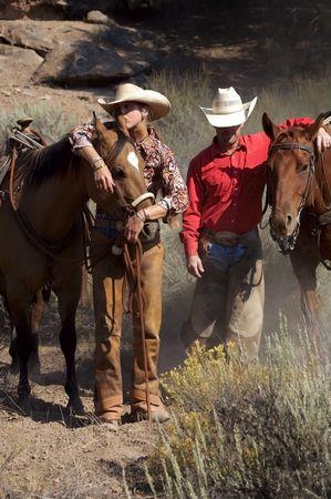 rancheros: Rancheros con sus caballos