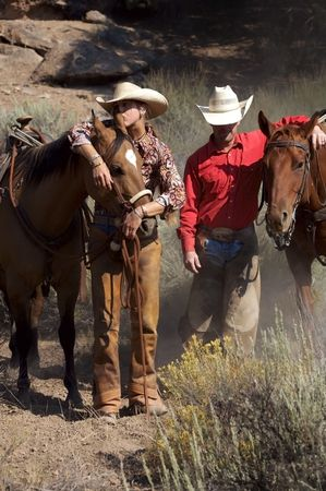 Ranchers with their horses