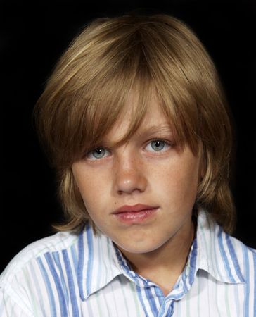 serious boy portrait
