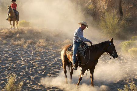 Cowboy Light Stock Photo
