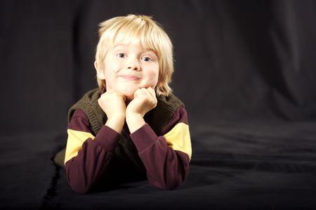 Cute six year old boy Imagens - 2222792