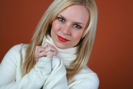 Pretty blond with a look of contentment on her face Stock Photo - 2440699