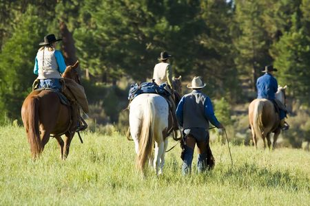 buckaroo: Cowboys and Cowgirls with their in Morning Light
