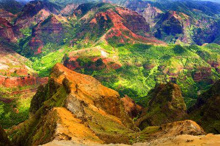 Rich Colorful Cliff of Na Pali Kauai