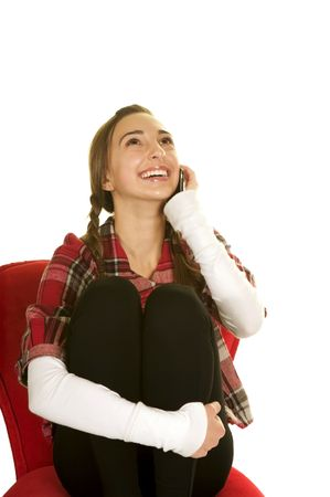 Teenage Girl Talking on the Phone Stock Photo - 3826031