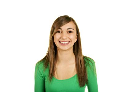 Cute Smiling Teenage Brunette Stock Photo - 3826032