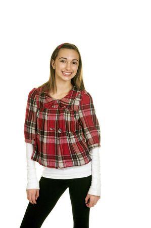 Fashionable Brunette Teenager