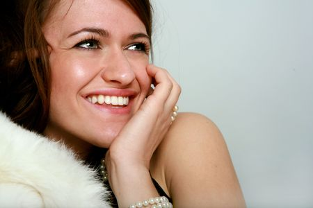 brunette with a beautiful smile Stock Photo - 3866551