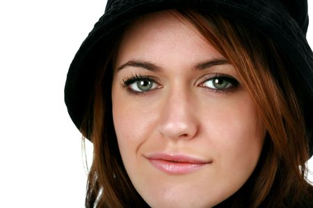 Serious Brunette Woman Stock Photo - 3866555