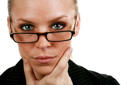 intelligent business woman Stock Photo - 3866550