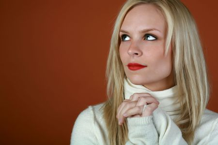 blond woman looking to the side Stock Photo - 3866554