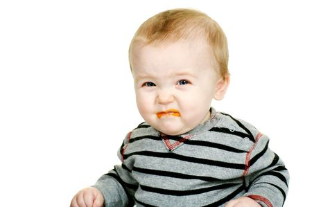 Cute Baby making a Yucky Face Stock Photo - 3976414